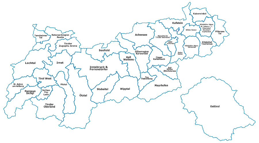 Unser Tirol Einfach Schon Tirol Karte